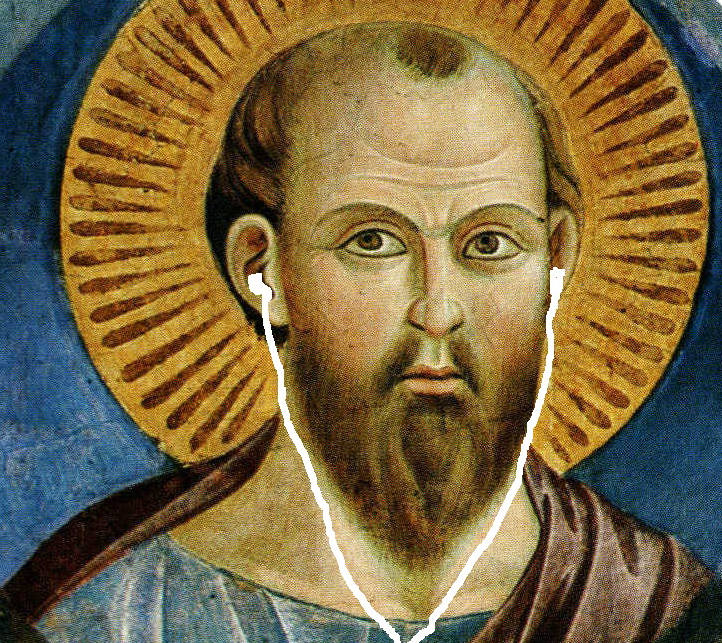 Image of St. Paul with headphones.