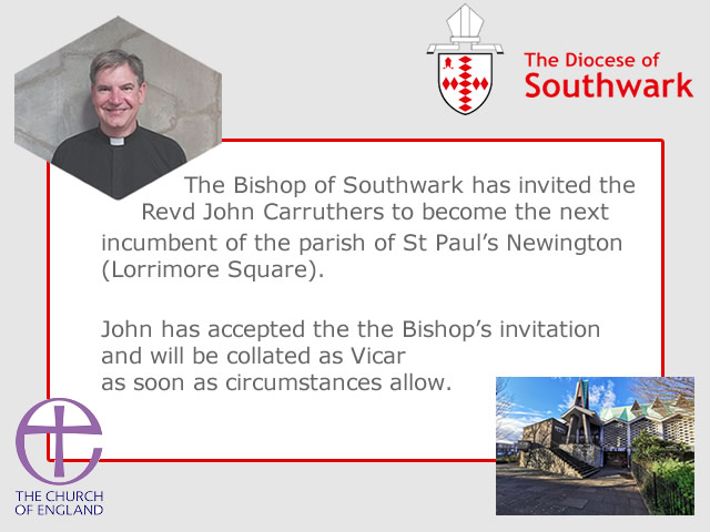 Father John Carruthers, Vicar of St Paul's