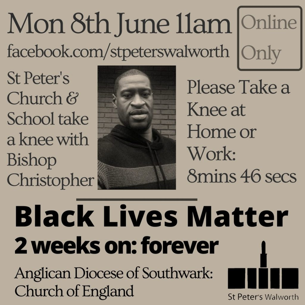 Black Lives Matter service at St Peter's walworth