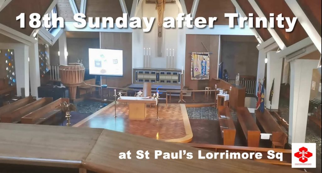 Service for 18th Sunday after Trinity